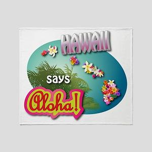 HAWAII 3 Throw Blanket