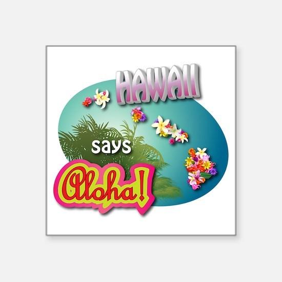 """HAWAII 3 Square Sticker 3"""" x 3"""""""