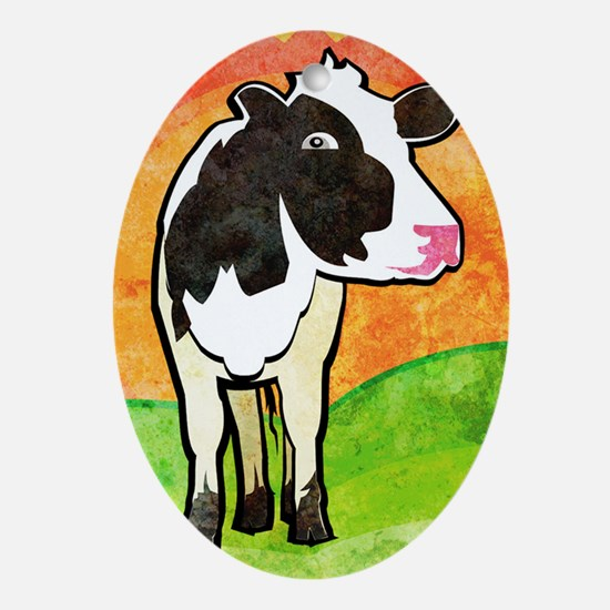 iTouch2caseDairyCow Oval Ornament