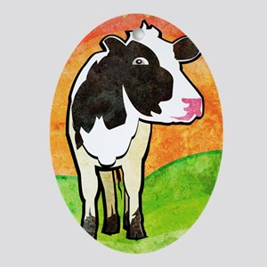 iTouch4caseDairyCow Oval Ornament