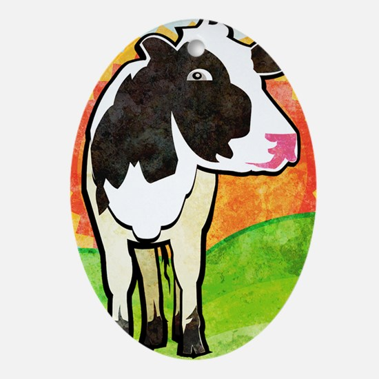 iphone3gDairyCow Oval Ornament