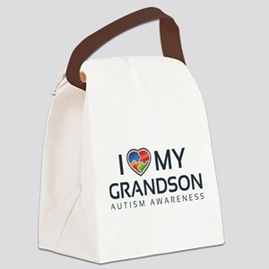 I Love My Grandson Canvas Lunch Bag