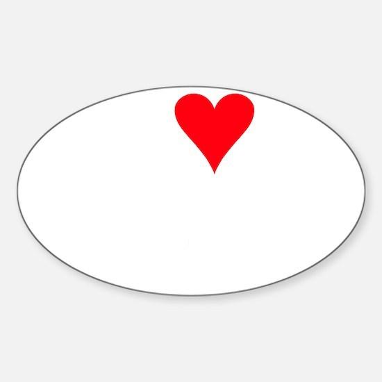iheartchipmunks_black Sticker (Oval)