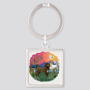 FantasyLand-brown Porter2C Square Keychain