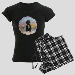 OceanSunrise-PWD5bw Women's Dark Pajamas