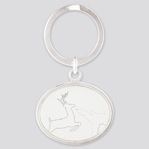 extreme_hunting_white Oval Keychain