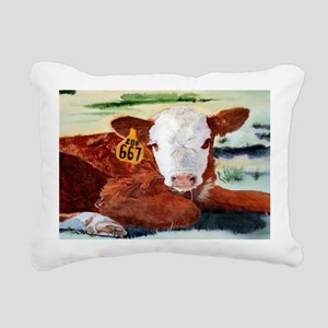 calfflipflop Rectangular Canvas Pillow