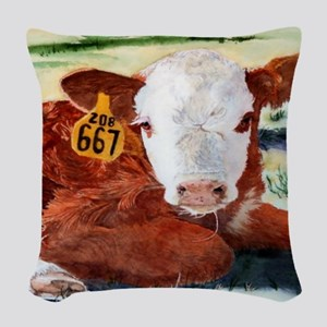 calfflipflop Woven Throw Pillow