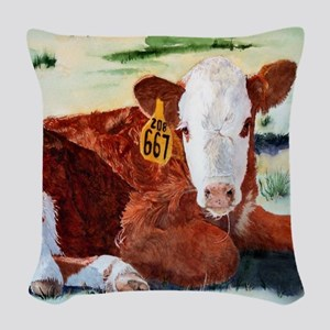 calfpillow Woven Throw Pillow