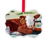 Hereford cattle Picture Frame Ornaments