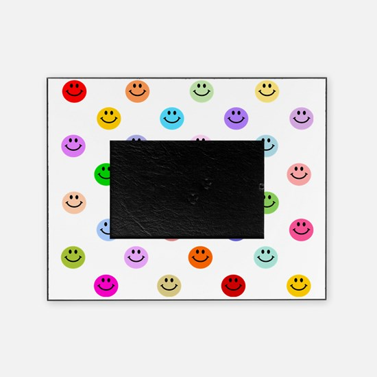 rainbow smiley pattern Picture Frame
