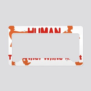 human other white meat License Plate Holder