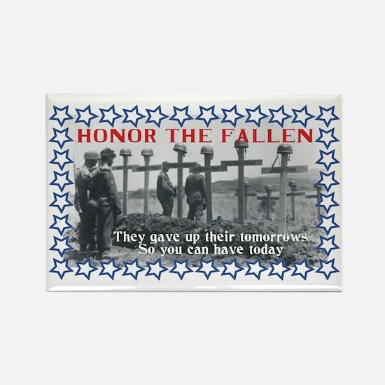 Honor the fallen Rectangle Magnet