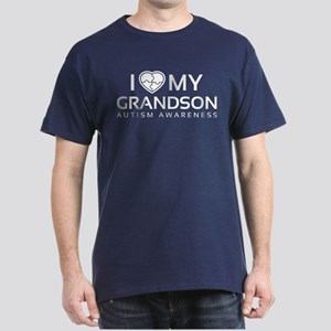 I Love My Grandson Dark T-Shirt
