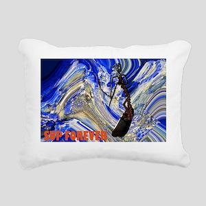 SupSkeleChainSurferCafeP Rectangular Canvas Pillow