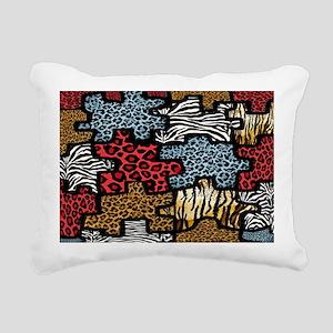 ZazzlePuzzleRABAnimalPri Rectangular Canvas Pillow