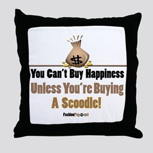 Scoodle dog Throw Pillow