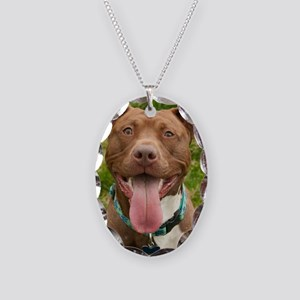Pit Bull 13 Necklace Oval Charm