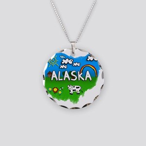 Alaska Necklace Circle Charm