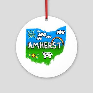 Amherst Round Ornament