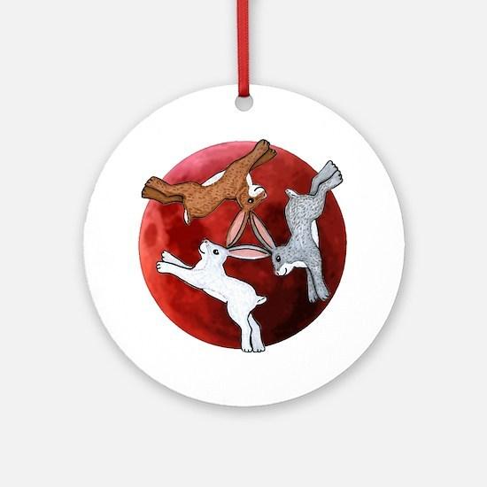 three hares Round Ornament