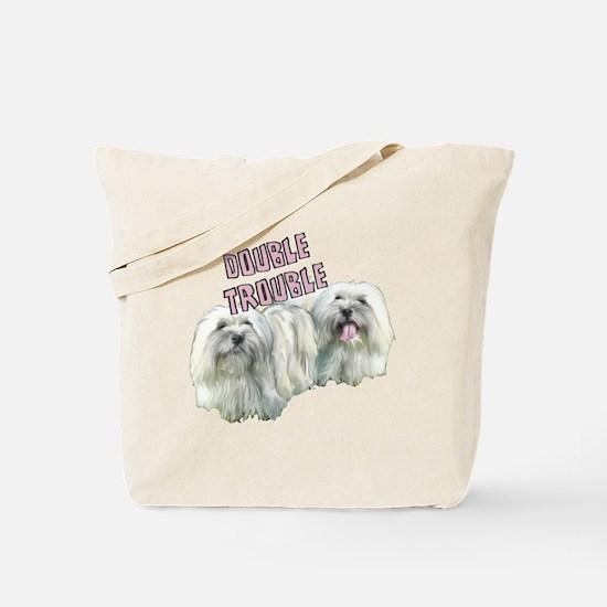 conton de tulearDOUBLE TROUBLE Tote Bag