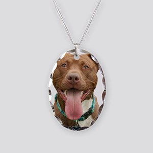 Pit Bull 14 Necklace Oval Charm
