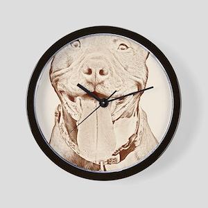 Pit Bull 16 Wall Clock