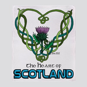 Heart Scotland White Throw Blanket
