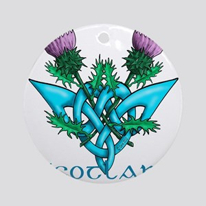 Thistles Scotland Round Ornament