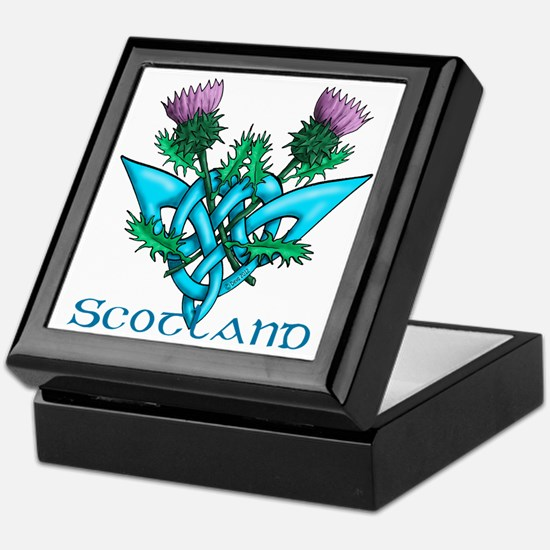 Thistles Scotland Keepsake Box