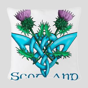 Thistles Scotland Woven Throw Pillow
