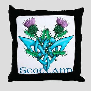 Thistles Scotland Throw Pillow