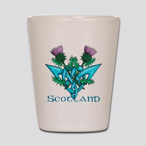 Thistles Scotland Shot Glass
