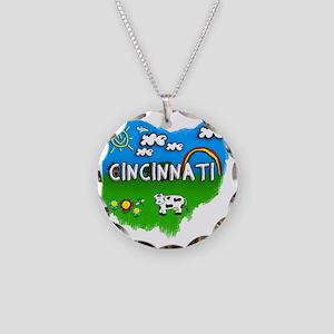 Cincinnati Necklace Circle Charm