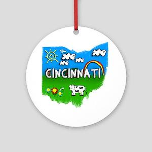 Cincinnati Round Ornament