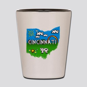 Cincinnati Shot Glass
