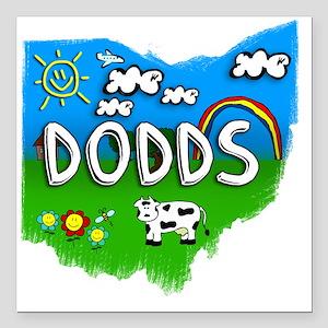 "Dodds Square Car Magnet 3"" x 3"""