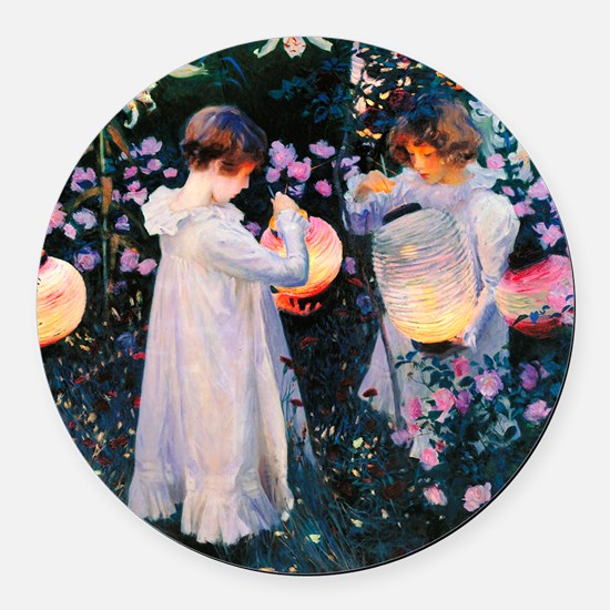 iPad Sargent Lily Round Car Magnet