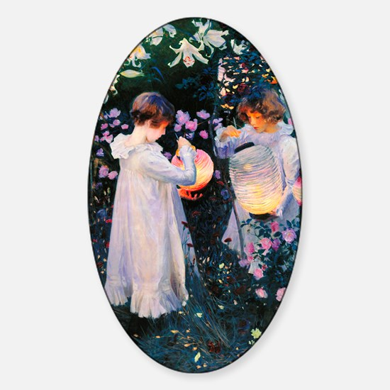 iPad Sargent Lily Sticker (Oval)