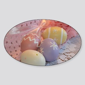 Daughter Easter Eggs Sticker (Oval)