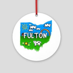 Fulton Round Ornament