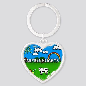 Garfield Heights Heart Keychain