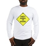 Party animal on board Long Sleeve T-Shirt