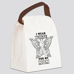 I Wear White for my Mom Canvas Lunch Bag