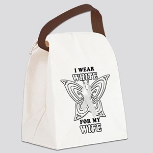 I Wear White for my Wife Canvas Lunch Bag