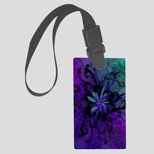 ipod2chaoticfloral Large Luggage Tag