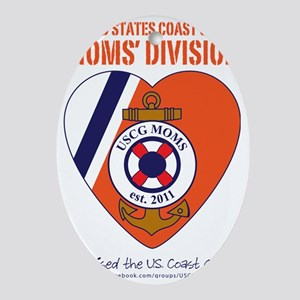 USCG MOMS V2 Approved Oval Ornament