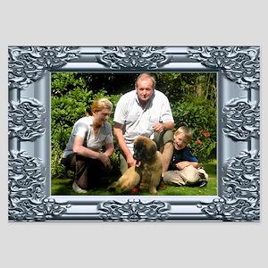 Custom silver baroque framed photo 3.5 x 5 Flat Ca