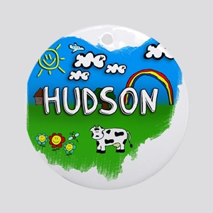 Hudson Round Ornament